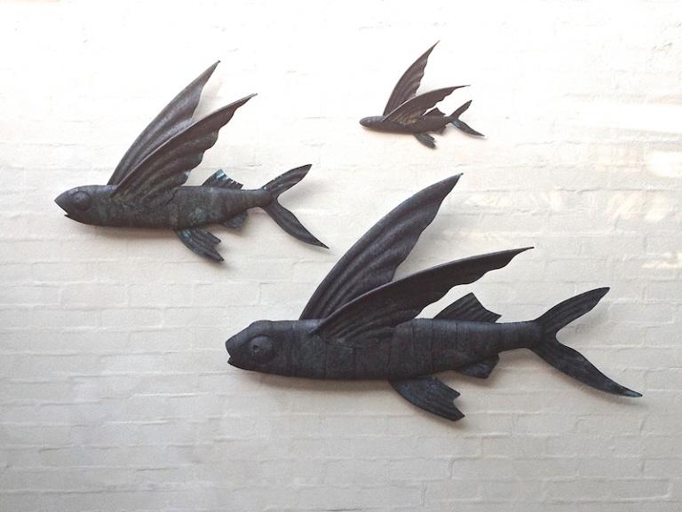 Flying Fish Sculpture Sholto Turner